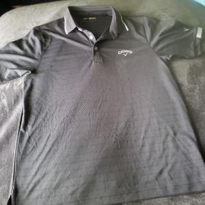 Callaway Men's Gray Polo Golf Shirt Size Small